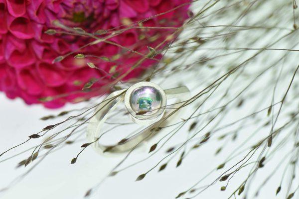 Rózsakertem vonzásában eljegyzési gyűrű princess gyémánttal