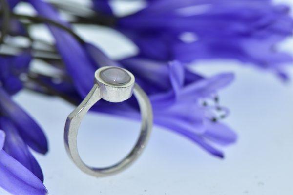 Tiszta érzések égkék gyémánttal táncoló buborék - Eljegyzési gyűrű