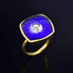 Art Deco nyoma gyűrű