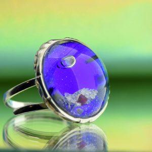 Kék lagúna hullámai gyűrű