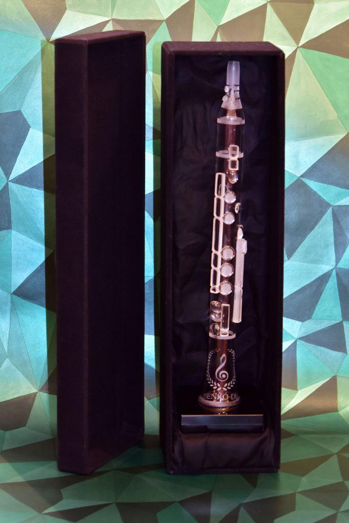 Benkó dixiland díj üveg klarinét