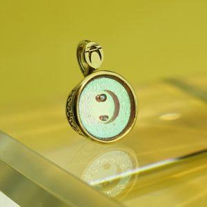 Inkák kincse (Art Déco foglalatban) gyémánttal medál