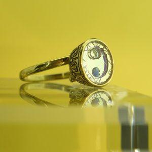 Inkák kincse zafírral Gyűrű