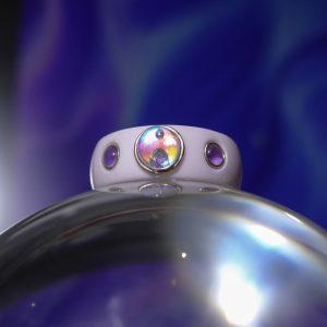 A jövő legendája ametiszt és a gyémánt ragyogása gyűrű