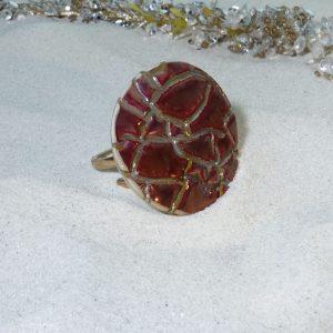 Zsolnay ökörvérmázas  gyűrű története