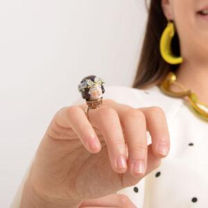 Virágfonatos Lány gyűrűje