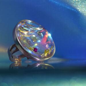 Rózsaablak misztikája gyűrű